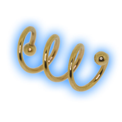 22k Gold Plated Steel Multi Loop Spiral Twister