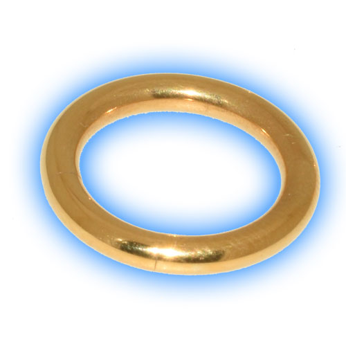 Gold Plated Steel Large Gauge Segment Ring