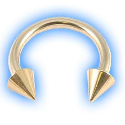 Gold PVD Titanium Circular Barbell With Cones - CBB 1.6mm (14 gauge)