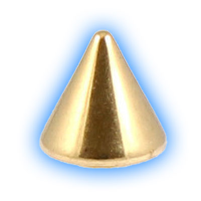 Gold PVD Titanium Screw On Cone - 1.6mm (14 Gauge)