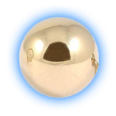 Gold PVD Titanium Screw On Ball - 1.2mm (16 Gauge)