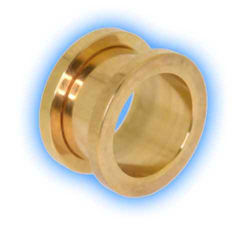 22k Gold Plated Stainless Steel Screw Tunnel
