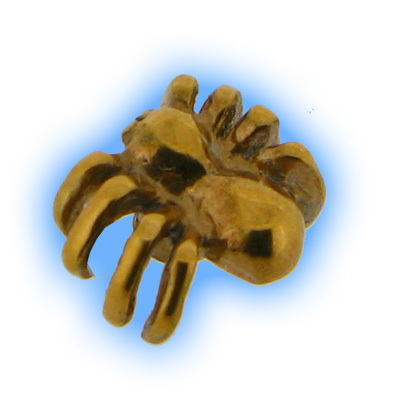 Gold Plated Screw On Spider Top - 1.6mm (14g)
