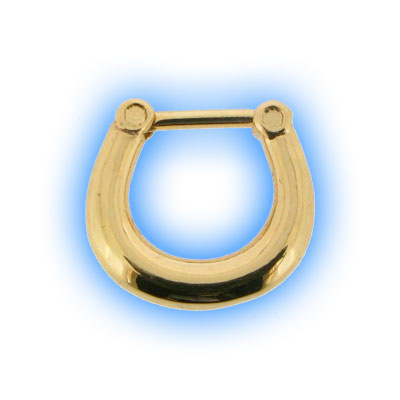 Gold Plated Plain Septum Clicker