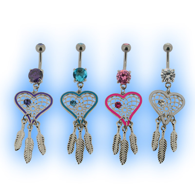 Heart Dreamcatcher Belly Bars