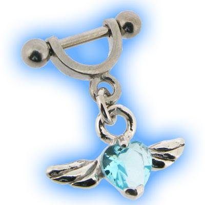 Helix Cuff Shield - Aqua Winged Heart