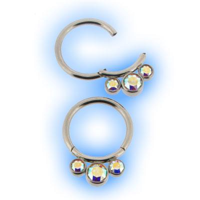 Crystal AB Hinged Segment Ring