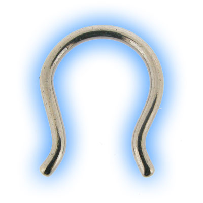 Horseshoe Steel Septum Keeper Piercing Retainer