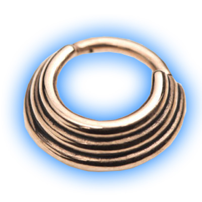 Rose Gold PVD Hinged Banded Segment Ring - 1.2mm (16 gauge)
