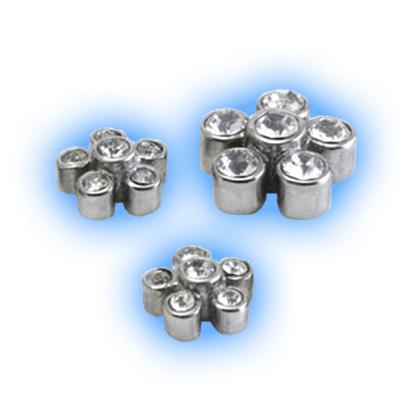Cast Steel Gem Flower - 1.2mm (16g)