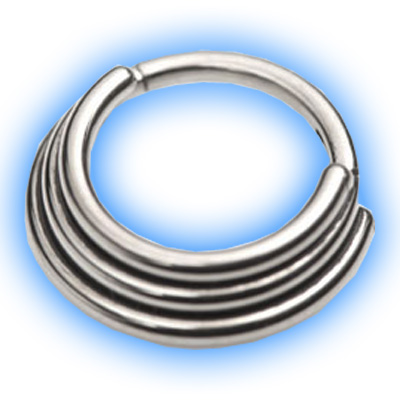 Titanium Hinged Staggered Banded Segment Ring - 1.2mm (16 gauge)