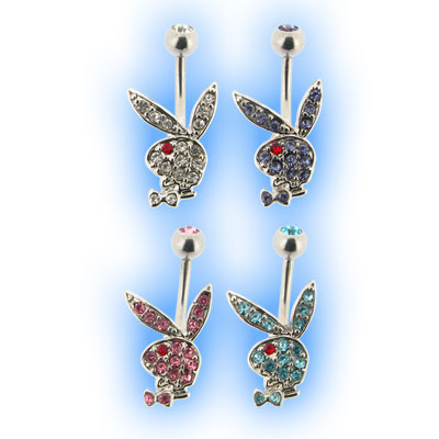Playboy Jewelled Bunny Belly Bars