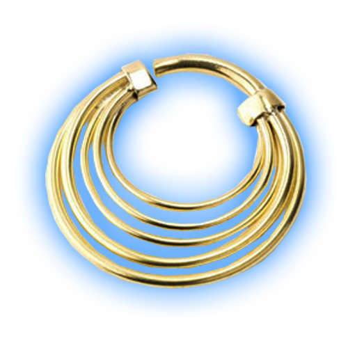 Banded Brass Ear Weight
