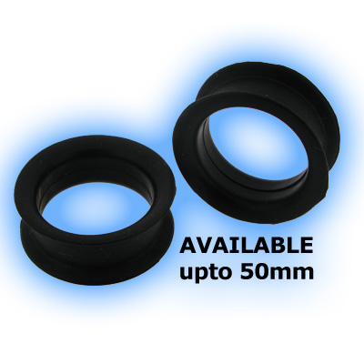 Jumbo Black Flexible Silicone Flesh Tunnel