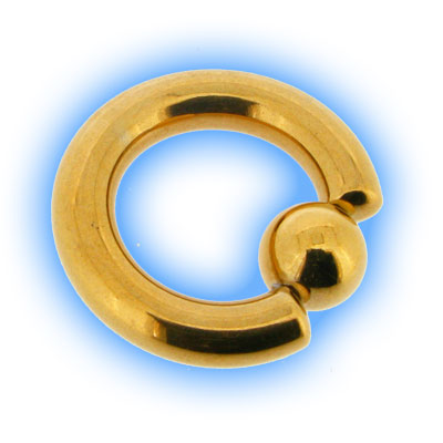 Gold Plated Surgical Steel Large Gauge BCR