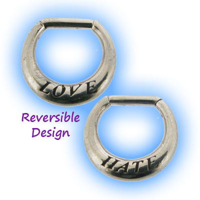 Love Hate Reversible Septum Clicker