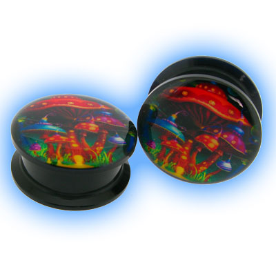 Acrylic Screw Plug Magic Mushrooms