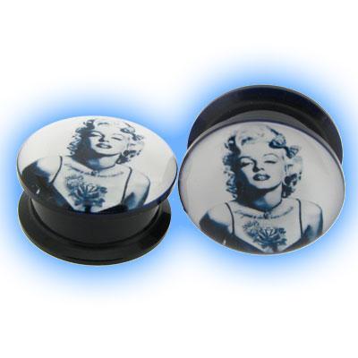 Acrylic Screw Plug Marilyn Monroe