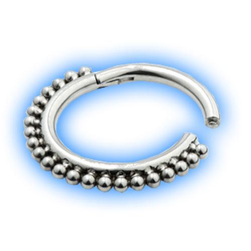 Titanium Hinged Ring with ball design