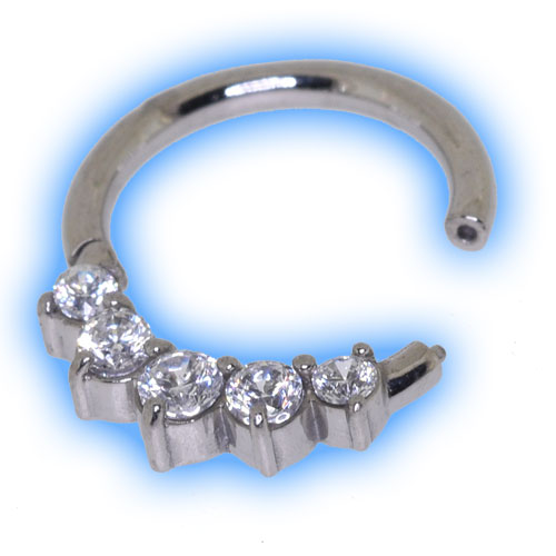 5 Gem Hinged Micro Segment Ring
