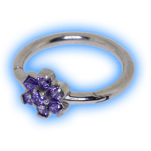 Flower Hinged Micro Segment Ring