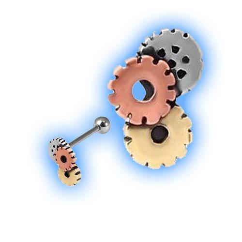 1.2mm (16 gauge) attachment - tri colour steampunk cogs