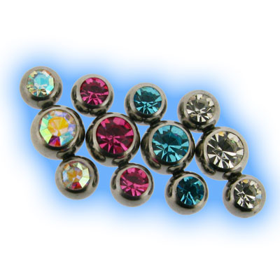 Steel Triple Gem Attachment - 1.2mm (16g)