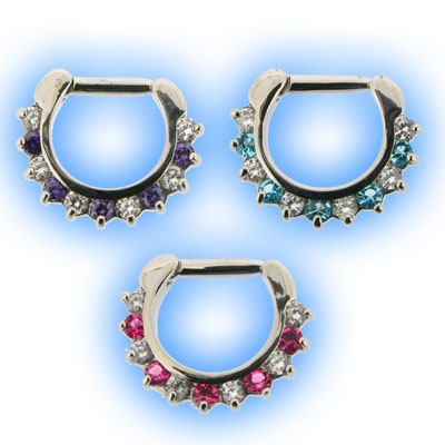 Petal Gem Septum Clicker with Mixed Colours