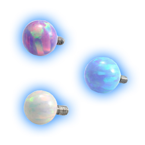 Internally Threaded Opal Ball - 1.6mm (14 gauge)