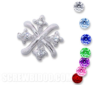 Screwbidoo Screw - 4 Stone Cross