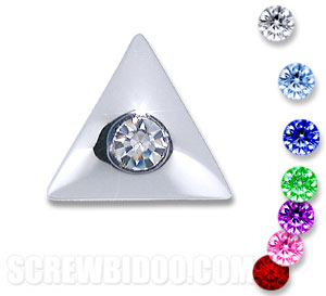 Screwbidoo Screw - Stone Set Triangle