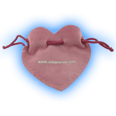 Body Jewellery Heart Shaped Gift Pouch