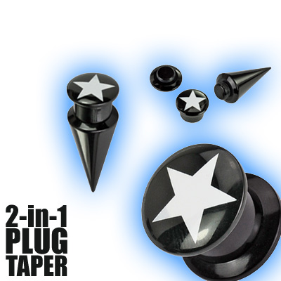 2 in 1 Plug Expander Stretching Set - Star