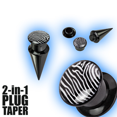 2 in 1 Plug Expander Stretching Set - Zebra