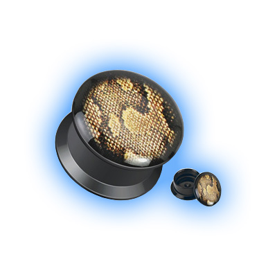 Acrylic Ear Plug Screw Front - Python Print