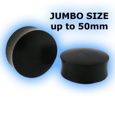 Jumbo Organic Black Areng Wood Flesh Plug