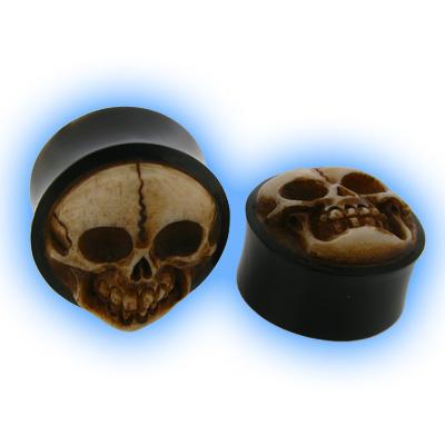 Horn Plug - Carved Skull