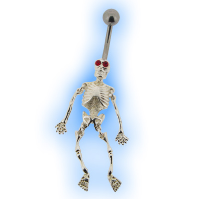 Halloween Deluxe Skeleton Belly Bar