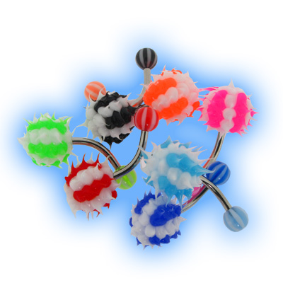 Koosh Striped Belly Bar Value Set of 8