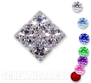 Screwbidoo Screw - 4 Stone Square Screw