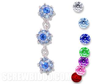 Screwbidoo Screw - 3 Dangling Flowers