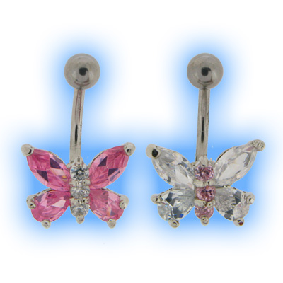 Dainty Butterfly Belly Bar