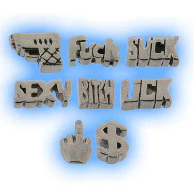 Stainless Steel Screw On 3D Logo Attachment - 1.6mm (14g)