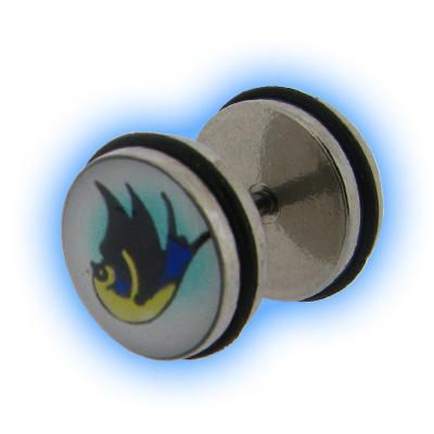 Swallow Bird Fake Ear Stretching Plug