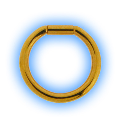 1.6mm (14g) Gold Plated Steel Bar Closure Ring