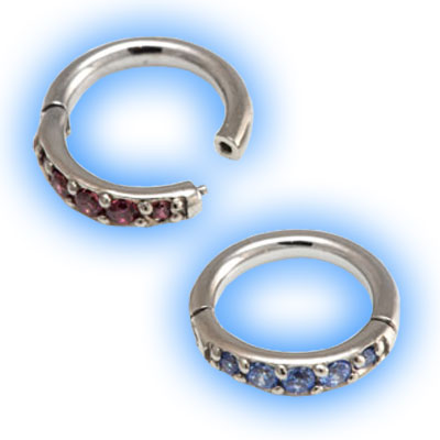 Pave Gem Hinged Micro Segment Ring