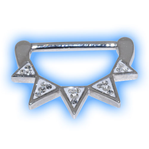 Deco Nipple Clicker with Triangle Gems