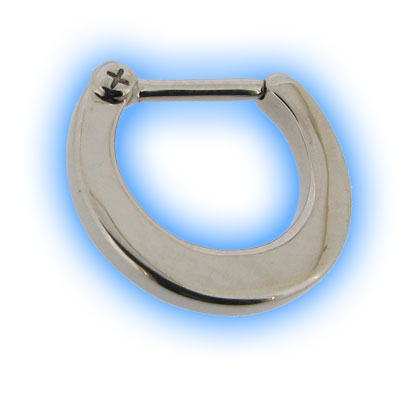 Polished Plain Steel Septum Clicker