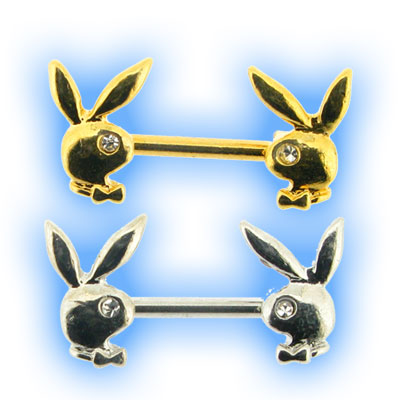 Playboy Bunny Heads Nipple Bar