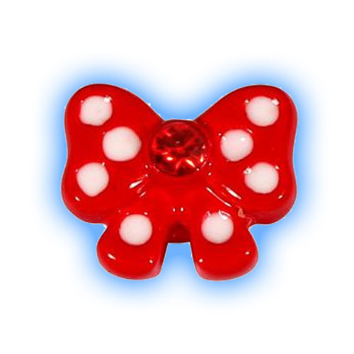 1.2mm (16 gauge) attachment - Red Polka Dot Bow